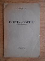 I. V. Patrascanu - Faust de Goethe, studiu de sinteza (1932)