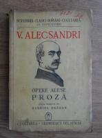 Vasile Alecsandri - Opere alese (1941)