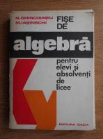 Anticariat: N. Ghircoiasiu, N. Iasinschi - Fise de algebra pentru elevi si absolventi de licee