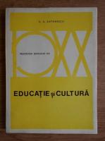 Anticariat: G. G. Antonescu - Educatie si cultura