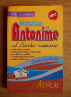 Anticariat: M. E. Iacobescu - Dictionar de antonime al limbii romane