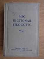 Anticariat: M. Rozental, P. Iudin - Mic dictionar filozofic