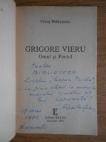 Anticariat: Fanus Bailesteanu - Grigore Vieru. Omul si Poetul