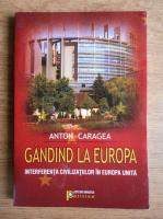Anticariat: Anton Caragea - Gandind la Europa. Interferenta civilizatiilor in Europa Unita