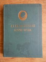 Anticariat: I. F. Cunin - P. I. Ceaicovschi. Despre opera