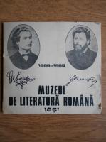 Muzeul de literatura romana. 1889-1989