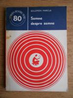 Anticariat: Solomon Marcus - Semne despre semne