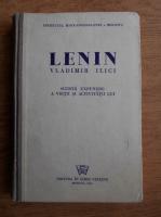 Anticariat: Vladimir Ilici Lenin - Scurta expunere a vietii si activitatii lui (1944)