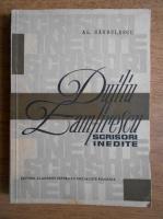 Alexandru Sandulescu - Duiliu Zamfirescu. Scrisori inedite