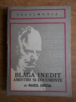 Anticariat: Bazil Gruia - Blaga inedit: amintiri si documente