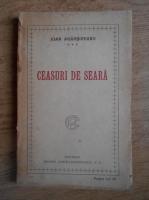 Anticariat: Ion Agarbiceanu - Ceasuri de seara (editie princeps, 1921)