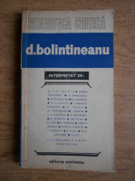Anticariat: D. Bolintineanu (Biblioteca Critica)