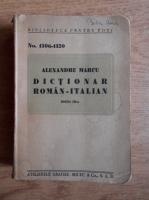 Anticariat: Alexandru Marcu - Dictionar roman-italian (1938)