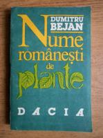 Dumitru Bejan - Nume romanesti de plante