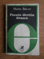Anticariat: Marin Bucur - Poezie-destin drama