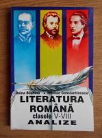 Nicolae Constantinescu - Literatura romana clasele V-VIII. Analize