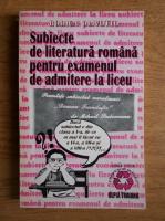 Anticariat: Rodica Olivotto - Subiecte de literatura romana pentru examenul de admitere la liceu