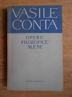 Vasile Conta - Opere filozofice alese