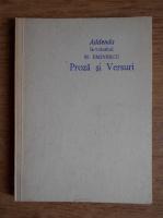 Anticariat: Addenda la volumul M. Eminescu. Proza si versuri
