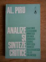Alexandru Piru - Analize si sinteze critice