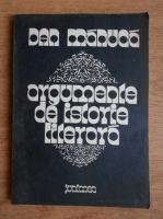 Dan Manuca - Argumente de istorie literara