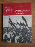 Anticariat: Dumitru Sultan - Preliminarii ale fauririi Statului National Unitar Romanesc