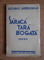 Anticariat: George Gregorian - Saraca tara bogata. Poezii (1936)