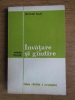 Anticariat: Nicolae Radu - Invatare si gandire