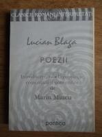 Anticariat: Lucian Blaga - Poezii. Introducere, tabel cronologic, comentarii si note critice de Marin Mincu