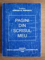 Anticariat: Adrian Popescu - Pagini din scrisul meu