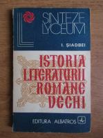 Anticariat: I. Siadbei - Istoria literaturii romane vechi