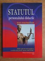 Anticariat: Statutul personalului didactic