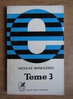 Anticariat: Nicolae Manolescu - Teme (volumul 3)