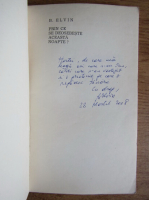Anticariat: B. Elvin - Prin ce se deosebeste aceasta nopate? (cu autograful autorului)