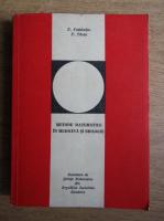 Anticariat: T. Postelnicu - Metode matematice in medicina si biologie