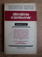 Dimitrie Cantemir interpretat de (Biblioteca critica)