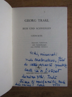 Anticariat: Georg Trakl - Ruh und Schweigen (cu autograful lui Petre Stoica)