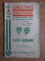 Anticariat: Ion Popu-Campeanu - Cunostinte Folositoare. Plante carnivore (1935)