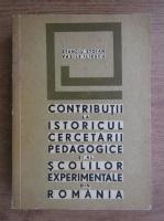 Anticariat: Stanciu Stoian - Contributii la istoricul cercetarii pedagogice ai al scolilor experimentale din Romania