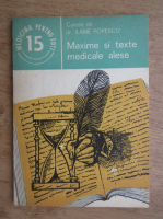 Anticariat: Ilarie Popescu - Maxime si texte medicale alese