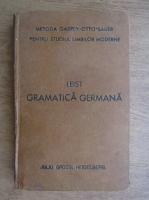 Ludovic Leist - Gramatica germana (1924)