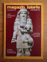 Anticariat: Magazin istoric, Anul XLIX, Nr. 11 (596), noiembrie 2016