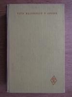 Anticariat: Titu Maiorescu - Opere (volumul 2)
