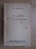 Anticariat: M. El. Ionescu Miciora - Culegere de exercitii gramaticale