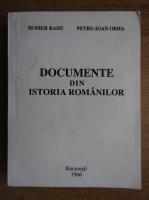 Radu Homer - Documente din istoria romanilor