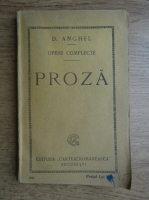 D. Anghel - Opere complete, proza (1924)