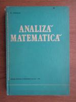 Anticariat: O. Stanasila - Analiza matematica