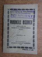 Al. N. Constantinescu - Poruncile bisericii (1937)