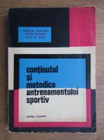Anticariat: Continutul si metodica antrenamentului sportiv