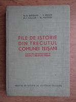 O. D. Brezeanu - File de istorie din trecutul comunei Teisani (autograful autorului)
